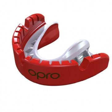 OPRO Gebitsbeschermer Voor Beugel Self-Fit Gold Rood/Wit Senior
