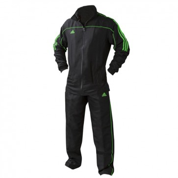 adidas Team Track Trainingsbroek Zwart/Groen ADITR040-ZG