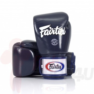Fairtex (kick)bokshandschoenen Tight Fit Blauw 16oz