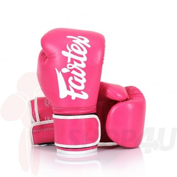 Fairtex (kick)bokshandschoenen Improved Fit Roze 10oz