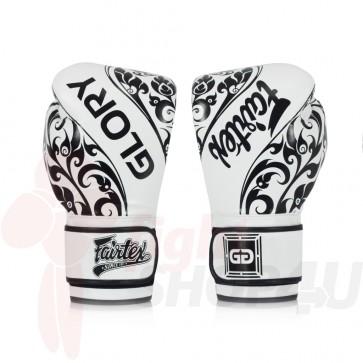Fairtex (kick)bokshandschoenen Glory Limited Edition Wit BGV2 14oz