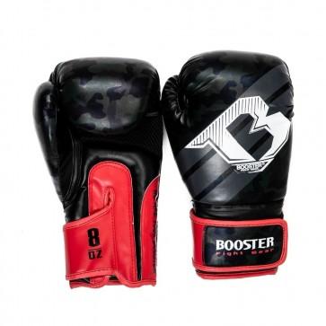Booster Junior (kick)bokshandschoenen Camo Zwart/Rood