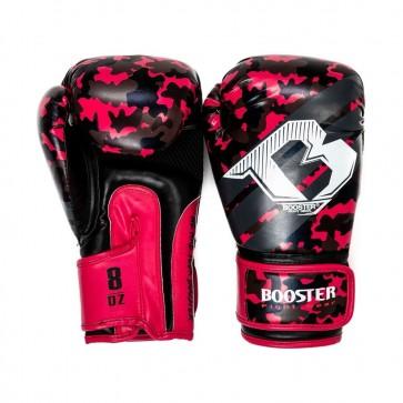 Booster Junior (kick)bokshandschoenen Camo Zwart/Roze