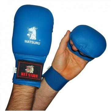Matsuru Karate Handschoenen Wedstrijdmodel Zonder Duim Blauw