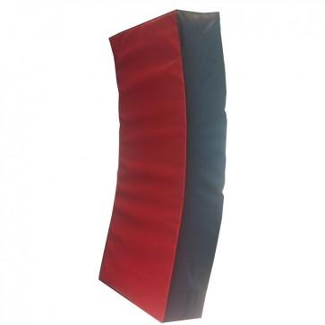 Gebogen Stootkussen 75x35x15 cm Zwart/Rood