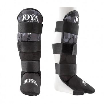 Joya Junior Scheenbeschermers Velcro Camo Zwart