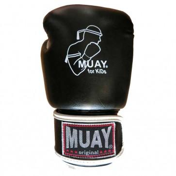 Muay (kick)bokshandschoenen Junior Zwart