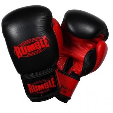 Rumble (kick)bokshandschoen Leder Ready 2.0 Zwart/Rood