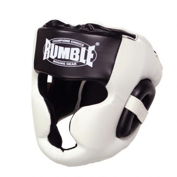 Rumble Hoofdbeschermer PU Special Zwart/Wit