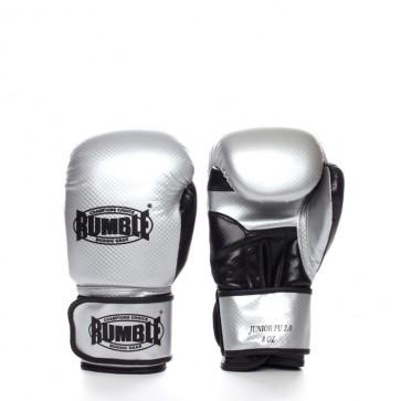 Rumble (kick)bokshandschoen PU Junior Zilver/Zwart 2.0