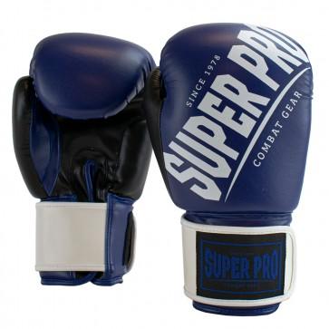 Super Pro Combat Gear (kick)bokshandschoenen Rebel Blauw/Zwart/Wit