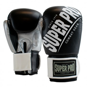 Super Pro Combat Gear (kick)bokshandschoenen Rebel Zwart/Grijs/Wit