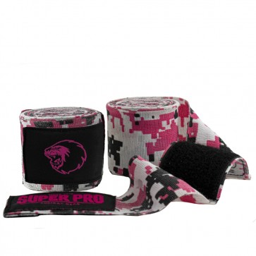 Super Pro Combat Gear Bandages Camo Roze/Zwart/Wit