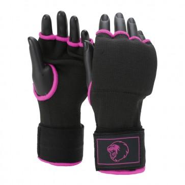 Super Pro Combat Gear Binnenhandschoenen Met Bandage Zwart/Roze