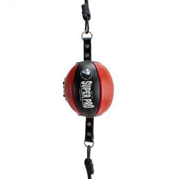 Super Pro Lederen Reflex Ball Zwart/Rood