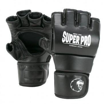 Super Pro Combat Gear Brawler MMA Handschoenen Zwart/Wit