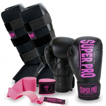 Super Pro Kickboksset Champ Zwart/Roze