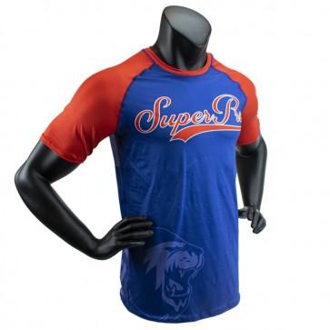 Super Pro Combat Gear T-Shirt Sublimatie Challenger Blauw/Rood/Wit