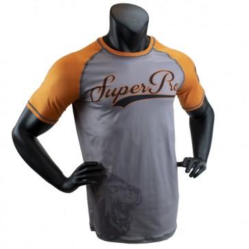 Super Pro Combat Gear T-Shirt Sublimatie Challenger Grijs/Oranje/Zwart