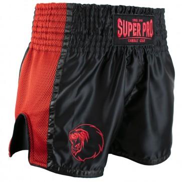 Super Pro Combat Gear Thai en Kickboksshort Brave Zwart/Rood