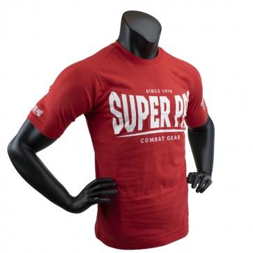 Super Pro T-Shirt S.P. Logo Rood/Wit