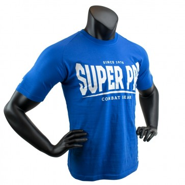 Super Pro T-Shirt S.P. Logo Blauw/Wit