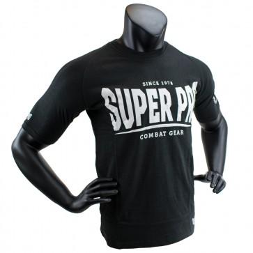 Super Pro T-Shirt S.P. Logo Zwart/Wit