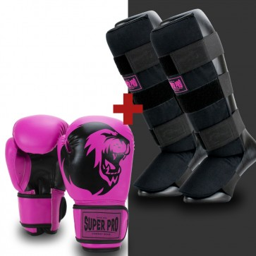 Super Pro Combat Gear Kinderset Black/Pink