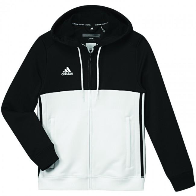 2fb571720ba adidas T16 Team Hoodie Zwart/Wit Youth