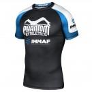 "Phantom Athletics Rashguard ""IMMAF"" Zwart/Wit/Blauw"