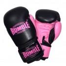 Rumble Lederen (kick)bokshandschoen Ready 2.0 Zwart/Roze