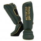 Super Pro Combat Gear Scheenbeschermer Protector SE Groen/Goud