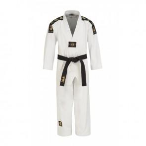 Matsuru taekwondopak met V-hals wit geborduurd