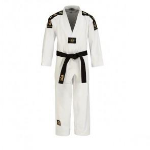Matsuru taekwondopak met V-hals wit