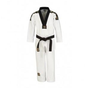 Matsuru taekwondopak met V-hals zwart geborduurd