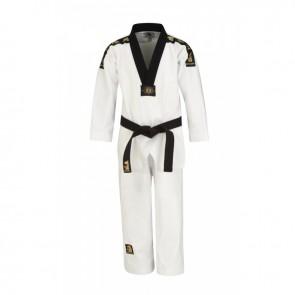 Matsuru taekwondopak met V-hals zwart