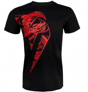 Venum T-Shirt Giant X Dragon Zwart/Rood