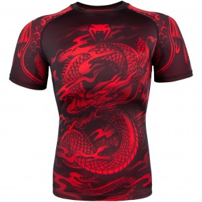 Venum Rashguard Dragon's Flight Zwart/Rood