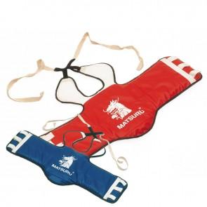 Matsuru taekwondo borstbeschermer blauw/rood omkeerbaar