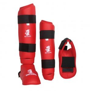 Matsuru scheen-voetbeschermer rood