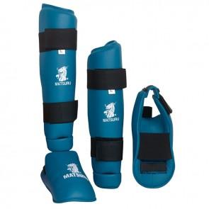 Matsuru scheen-voetbeschermers blauw