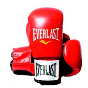 Everlast Fighter lederen (kick)bokshandschoen rood