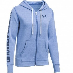 Under Armour Dameshoodie Threadborne Fleece Blauw