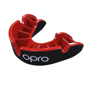 OPRO Gebitsbeschermer Self-Fit Silver Zwart/Rood Junior