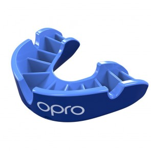 OPRO Gebitsbeschermer Self-Fit Silver Blauw/Blauw Junior