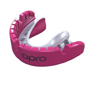 OPRO Gebitsbeschermer Voor Beugel Self-Fit Gold Roze/Wit Senior