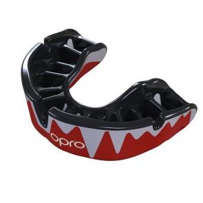 OPRO Gebitsbeschermer Self-Fit Platinum Fangz Rood/Zwart/Zilver Senior