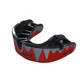 OPRO x UFC Gebitsbeschermer Self-Fit Platinum Fangz Zwart/Rood Senior