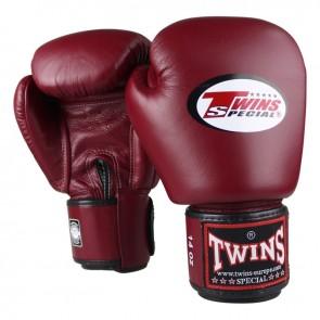 Twins (kick)bokshandschoenen Velcro Rood (Handschoenen)