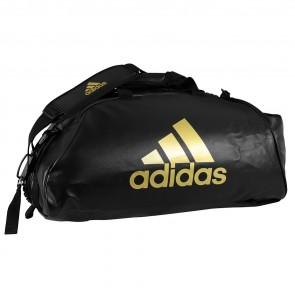 adidas Training Sporttas Combat 2 in 1 Zwart/Goud Medium